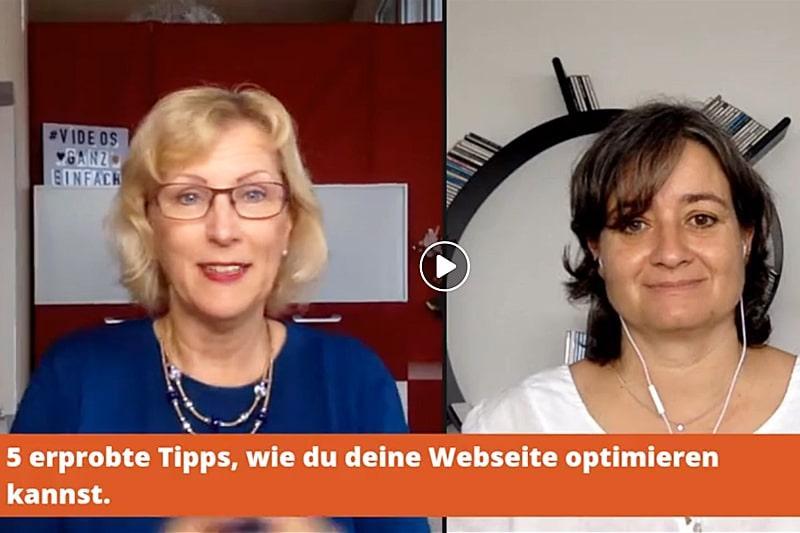 Interview: 5 erprobte Tipps, wie du deine Webseite optimieren kannst